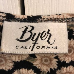 Byer California Tops - Black and Tan floral tank top